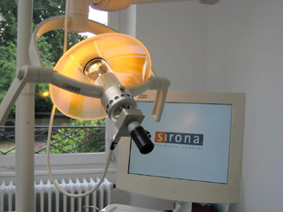 thirdeye photo on sirona c4 halogen dental light with adapter